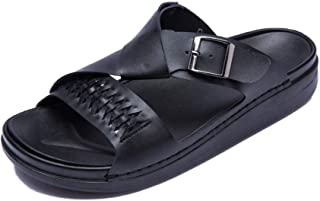 Xujw-shoes, Mens Outdoor Sandals Summer Beach Casual Slipper Open Toe Walking Fisherman Shoes Antislip OX Leather Monk Strap Casual Simple Solid Colors Outsole