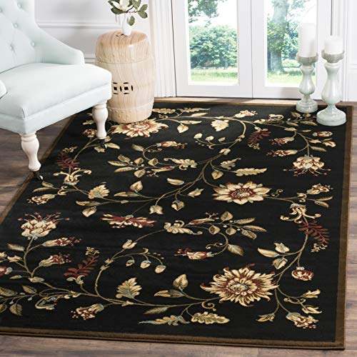 Safavieh Lyndhurst Collection LNH552-9091 Traditional Floral Black and Multi Area Rug (4' x 6')