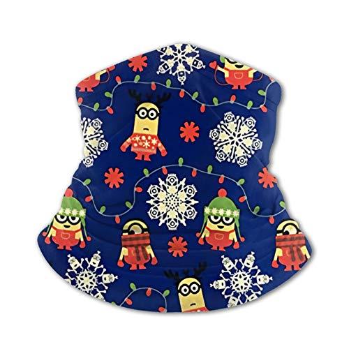 Nicegift Minion Invierno Copo de Nieve niños Bufanda a Prueba de Viento elástica Toalla de Cara pasamontañas