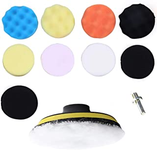 3Pcs Cone Sponge Kit Yesallwas Car Foam Drill Polishing Pad Kit Buffing Sponge Pads Kits Waxing Polishing for Car Sanding