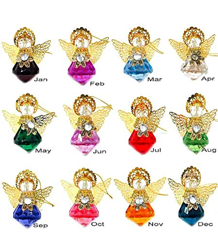 Linpeng Hanging Ornaments for Home-Birthstone Angels 12 Colors Set, Assorted