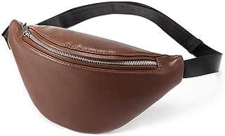 Women PU Leather Waist Bag Fashion Fanny Pack Waterproof Waist Packs Solid Cross-Body Bags Belt