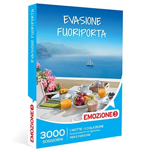 Emozione3 - Evasione Fuoriporta - Cofanetto Regalo Coppia, 1 Notte con Prima Colazione per 2 Persone, Idee Regalo Originale
