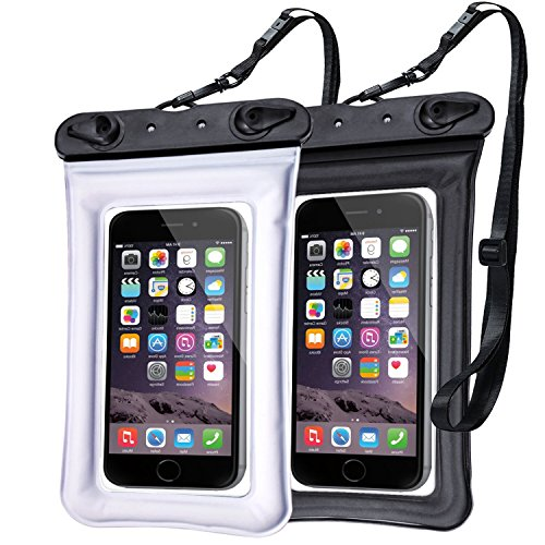 Egchi Waterproof Case IPX8 Waterproof Phone Pouch Case Underwater TPU Dry Bag for iPhone X/8/8plus/7/7plus/6s/6/6s Plus Samsung Galaxy s9/s8/s7 LG...