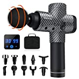 Beloman Massage Gun, Deep Tissue Percussion Fascia Gun After Fitness, 20 Speeds Handheld Massager for Muscle Deep Relaxation, 10 Different Massage Heads to Relieve Pain Different Locations