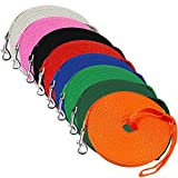 Dog/Puppy Obedience Long Recall Training Agility Lead Leash - Perfect for Pet Behavior Training, Multiple Sizes (50 ft, Orange)