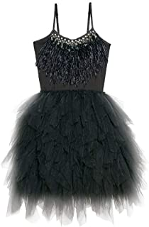 black feather tutu dress