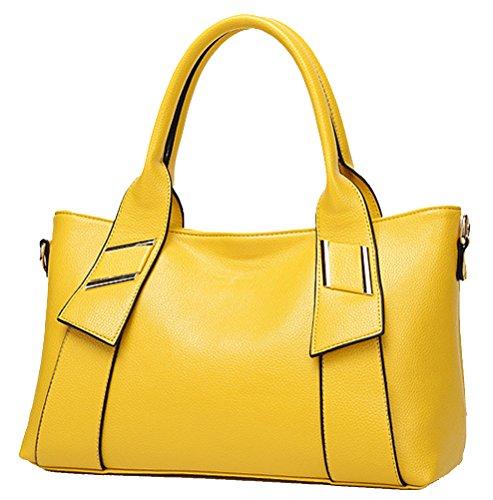 Bolso amarillo cruzado para mujer