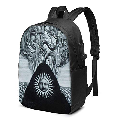 Hdadwy Gojira Magma Trendy Travel USB Backpack,17 Inch Computer Business Backpacks Student Backpack Casual Hiking Daypack
