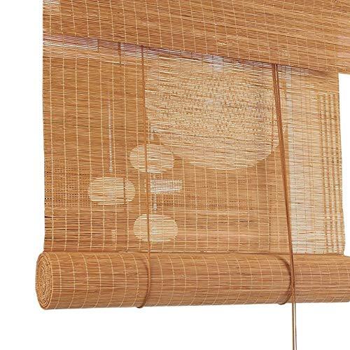 Estor enrollable exterior/veneciano para porche pérgola cenador para patio doméstico, filtración de la luz de bambú Roll Up cortinas con accesorios