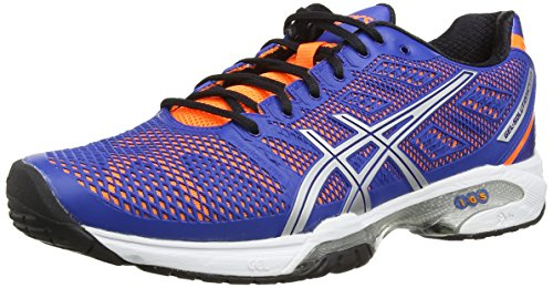 ASICS Gel-Solution Speed 2, Zapatillas de Deporte Exterior Hombre^Mujer, Azul (Blue/Flash Orange/Silver 4230), 46 EU