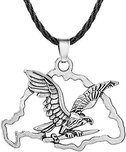 Collar Collar De Cuerda De Nube Hueca De Moda para Mujeres Hombres Águila Punk Cadena Larga Colgantes Yes Joyería Hecha A Mano Colgante Regalo para Hombres Mujeres Niñas Niños