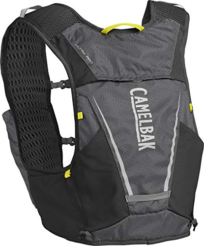 powerful CamelBak Ultra Pro Hydration Vest 34 oz, Graphite / Sulfur Source, M
