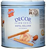 DeBeukelaer Decor On Ice Waffel-Röllchen Dose, 300 g