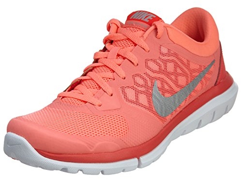 Nike Wmns Flex 2015 RN, Zapatillas de Running Mujer, Naranja/Blanco/Plata, 37.5