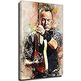 Bruce Springsteen - Póster decorativo para acuarela, 30 x 45 cm