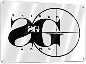 Lkbihl Sniper Gang Rap Music Customized and Personalized, Single Sided, Aluminum, Sign 11.8 * 7.9 in 1 Pack
