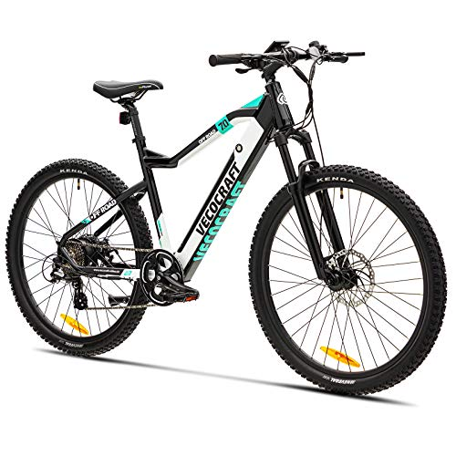 E Bike Mountainbike Elektrofahrrad VecoCraft Offroad Herren Damen 36V 10,4Ah-Samsung-Akku 250W Mmotor 27,5Zoll mit Shimano 8-Gang LCD-Display, Scheibenbremsen 25km/h E-Bike EMTB Pedelec All-Terra
