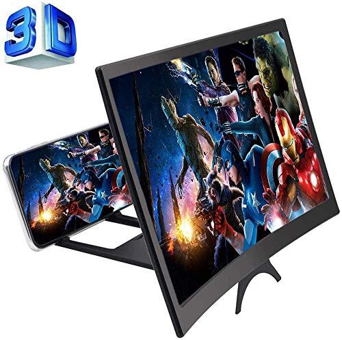 12-Zoll 3D handy lupe gebogene Bildschirmlupe für Telefone, faltbarer Telefonständer-Bildschirmverstärker für alle Smartphones