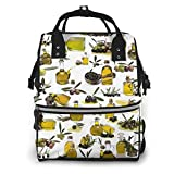 Olive Oil Diaper Bag Backpack With Multi-Function Waterproof Maternity Nappy Bags For Mom