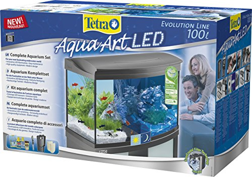 Tetra AquaArt Evolution Line LED Aquarium-Komplett-Set 100 Liter anthrazit (moderne LED Beleuchtung, integrierte Tag-Nachtlichtschaltung, gebogene Frontscheibe) - 3