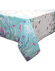 "Mermaid Plastic Tablecloth, 84"" x 54"""