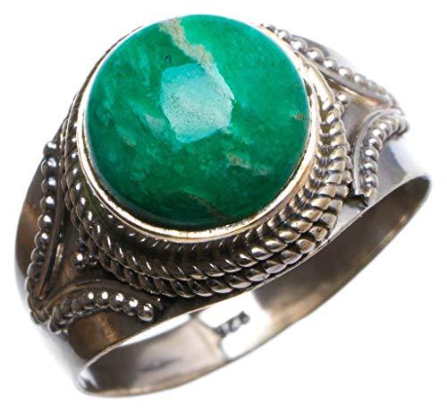 925er Sterling Silber Amazonite Einzigartig Handgefertigt Ringe 58 (18.5) X2104