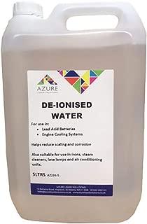 Azure - Agua desionizada para su uso en baterías de plomo ácido y sistemas de refrigeración de motor – 5 L