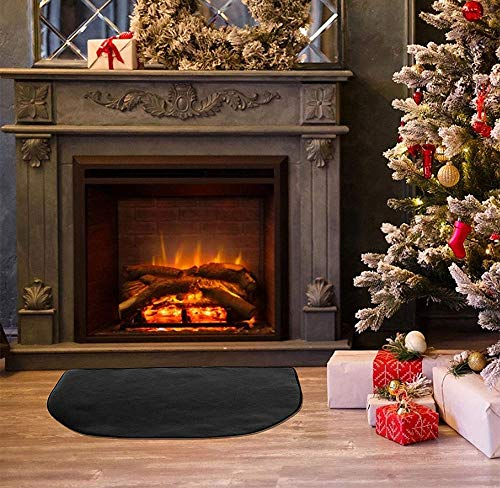 UCARE FIRE RETARDANT FIBERGLASS RUG DURABLE FIREPROOF PROTECTIVE HEARTH RUG INDOOR FIREPLACE AREA RUGS NON SLIP MAT FOR CHIMNEY | FIRE PIT | BRAZIER (M: 39.37X19.69IN | 100X50CM)