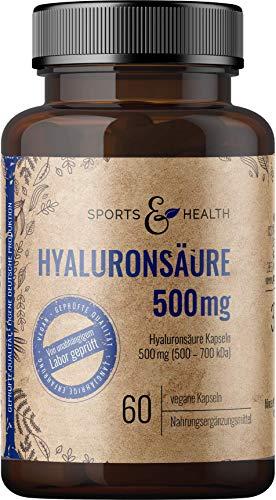 Hyaluron Kapseln Hochdosiert Aus Bester Qualität 500 mg Fermentiert Als 60 Vegane Kapseln Für Gelenke, Haut Und Anti Aging