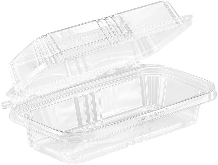 Safe-T-Fresh Grab and Go Food Container, Clear Plastic, Safe-T-G
