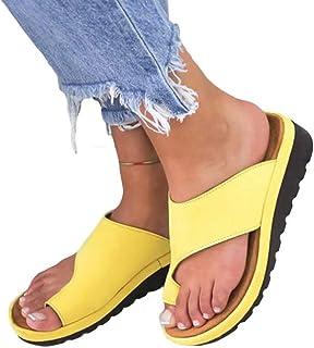 Elegant Open Toe Damen Sandalen Blockabsatze Pantoletten Slippers Plusgröße