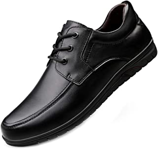 Men Formal Shoes Leather Lace Up Leisure Business Shoes with Soft Non Slip Rubber Sole for Working Meeting and Formal Occasions 37 Black