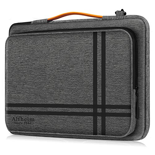 Alfheim 13-13.3 Inch Laptop Sleeve, Shock-Resistant Briefcase with Handle & Accessory Pocket, 360°Protective Durable & Lightweight Shoulder Bag Compatible with 13.3' MacBook Air, 13' MacBook Pro
