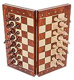 Square - Ajedrez de Madera - MAGNÉTICO - Staunton 4 - Tablero de ajedrez - 37,5 cm