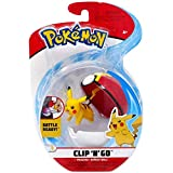Wicked Cool Toys Pokemon Clip N Go Season 3 - Figur Pikachu + Super Ball - Neu
