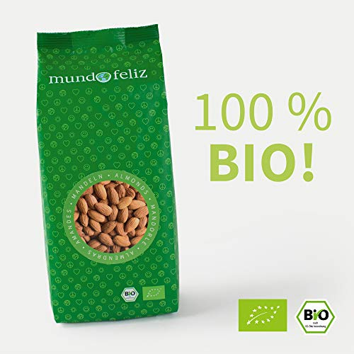 Mundo Feliz Ganze Mandeln aus Bio-Anbau, 2 x 500 g