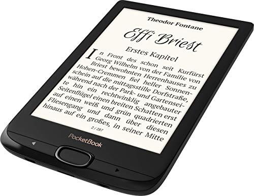 PocketBook e-Book Reader 'Basic Lux 2' (8 GB Speicher; 15,24 cm (6 Zoll) Display; 17 unterstützte Buchformate) in Obsidian Black