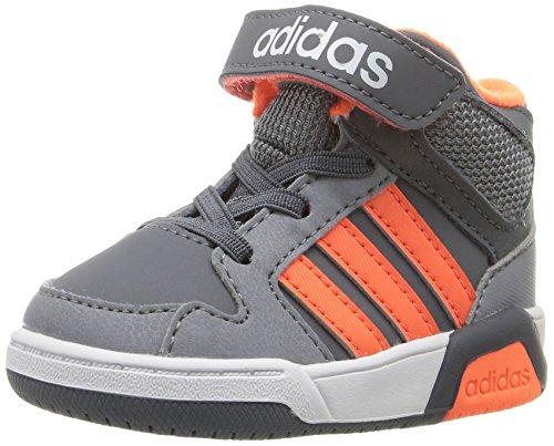 adidas - Bb9tis Mid Inf Unisex-Kinder, Grau (Onix/Warning/Tech Grey), 24