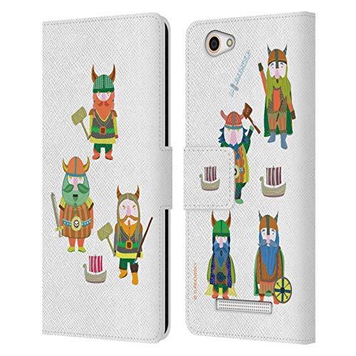 Head Hülle Designs Offizielle Turnowsky Wikinger Kindheit Fantasie Leder Brieftaschen Huelle kompatibel mit Wileyfox Spark X
