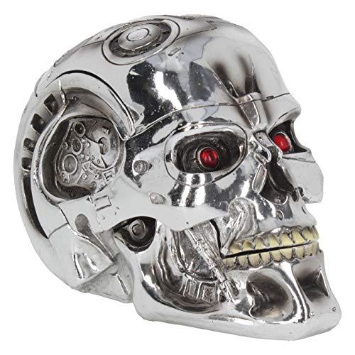 Nemesis Now, T-Terminator-Box, 18 cm, Silber, Kunstharz, Einheitsgröße