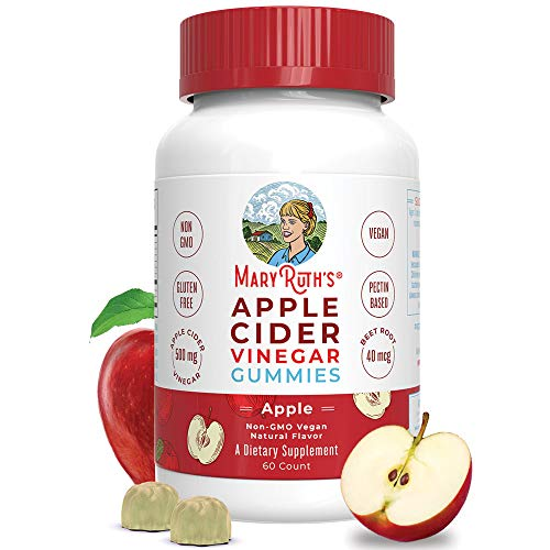 "Organic Apple Cider Vinegar Gummies by MaryRuth's - Includes ""The Mother"" - Immune Boosting - Overall Wellness - Superfood Supplement - Vegan - Non-GMO - Gluten-Free - 60ct"