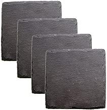 Twine 0581 True Fabrication Square Slate Coasters, 4