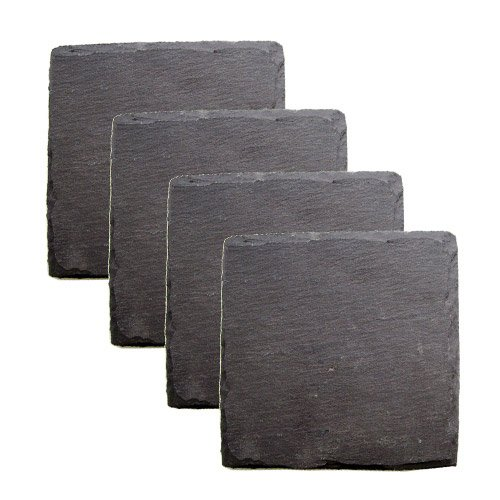 Twine True Fabrication Square Slate Coasters
