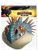 How to Train Your Dragon Nadder Maske Papp Maske, aus hochwertigem Glanzkarton mit Augenlöchern, Gummiband - Grösse ca. 30x20 cm