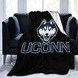Heyuchuan Uconn Huskies Flannel Fleece Blanket Ultra Soft Cozy Warm Throw for Home