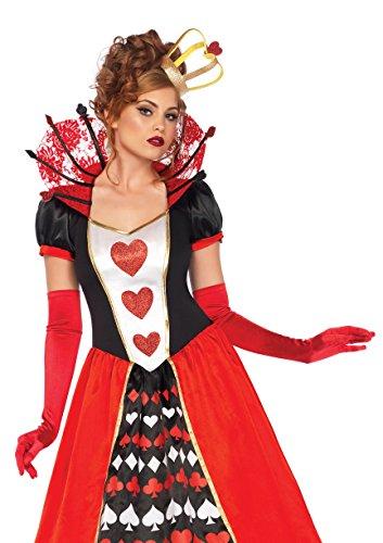 Leg Avenue 85593Deluxe Regina di Cuori Costume (Medium, UK 10–12, 2Pezzi