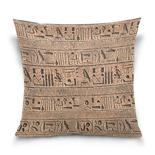 Hancal Throw Pillow Case Cojín Decorativo Funda de Almohada Cuadrada, Egipto...