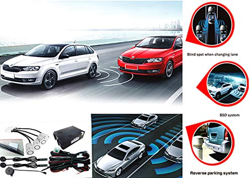 CarBest Ultrasonic Blind Spot Detection System BSD Change Lane Safer BSA BSM Blind Spot Monitoring Assistant Car Driving Security with Reverse Parking System