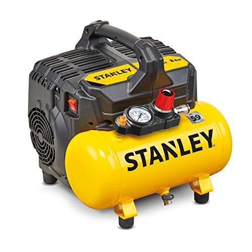 STANLEY DST 100/8/6 - Compressore Silenzioso (59dB), 8 Bar
